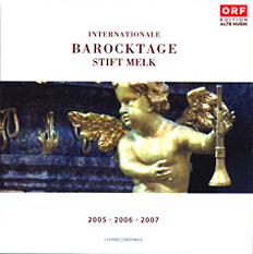 Cover Live-Mitschnitt Internationale Barocktage Stift Melk 2006
